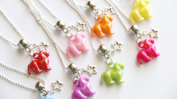 Lion Party Favor, Zoo Party Favor, Lion Charm with Star Charm