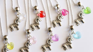 Goat Party Favor, Goat Charm with Heart Charm, Girl Party Favors