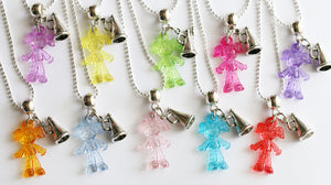 Cheerleading Party Favor, Girl with Megaphone charm