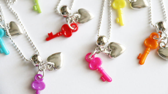 Valentine's Party Favors, Key with Heart
