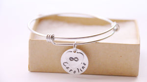 Infinity Bangle, Personalized with Name