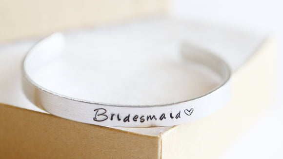 Cuff Bracelet, Bridesmaid Cuff