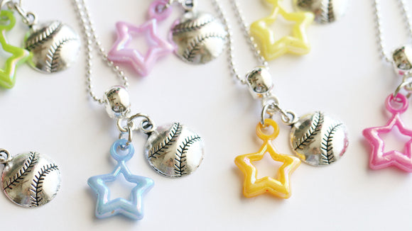 Baseball Party Favor, Softball Team Gifts, Baseball/Softball with Star
