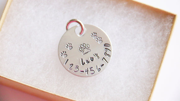 Dog Tag ID, Personalized Name and Phone Number