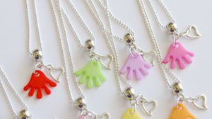 Slime Party Favor Necklaces, Summer Party Favor, Heart Party Favor, Heart Necklaces