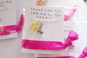 Roller Skate Party Favors Necklace with Hair Tie, 5 Packs