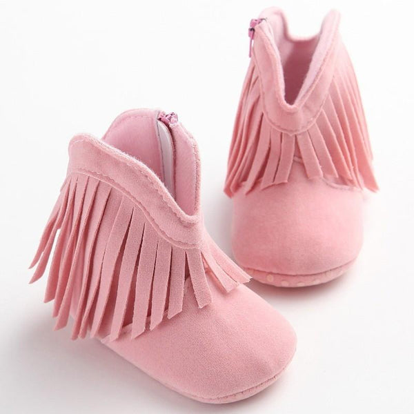 0 - 18M Toddler Soft Soled Anti-slip Fringe Boots