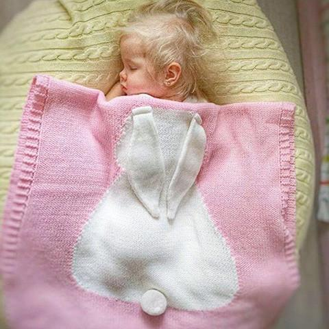 Exclusive Baby Cotton Knitted Rabbit Blanket ❤❤ (FREE WORLDWIDE SHIPPING)