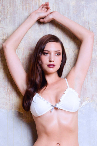 Agatha Cream Satin Camisole