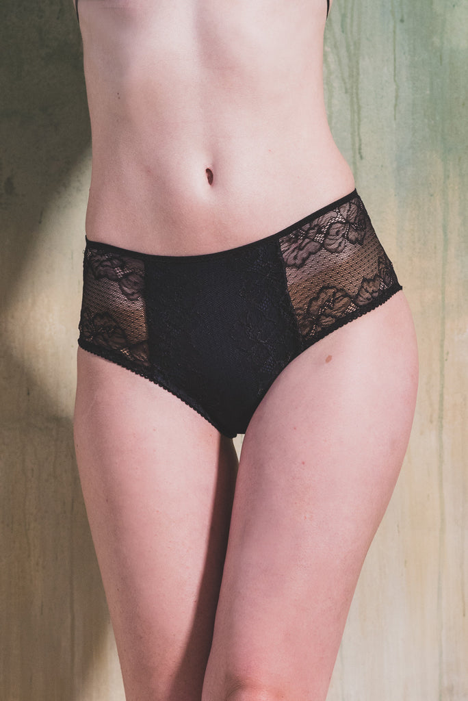 organic ethical lingerie knicker cotton bamboo sexy everyday black plus size, mutandine, culotte