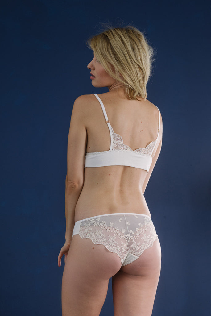 Elise Embroidered Bra & Brief Set