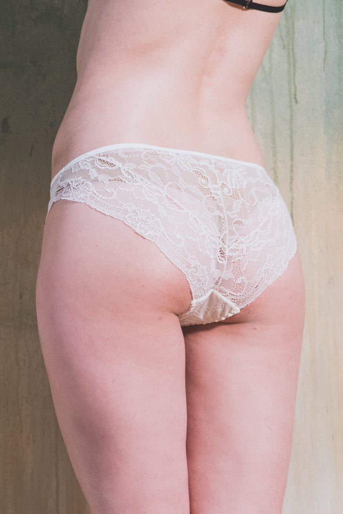 organic ethical lingerie knicker lace lace bridal sexy everyday white cream plus size, mutandine, culotte
