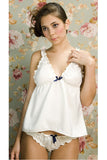 Louise Satin Babydoll & Knicker Set