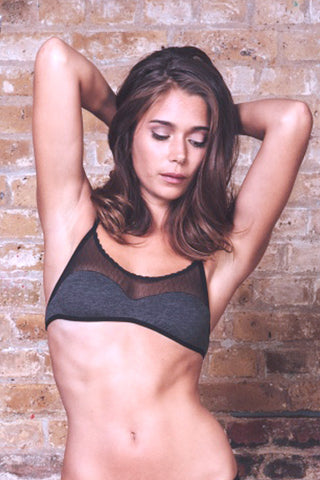 Anna Charcoal Bra & Brief Set