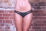 Anna Charcoal Brief - Luva Huva - ethical lingerie