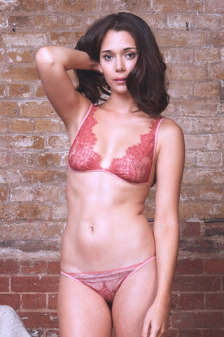 Ida Pink Lace Brief