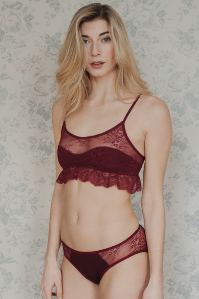 Daisy Burgundy bamboo and lace Bra Set £62.00. QUICK VIEW 3df75f6b8