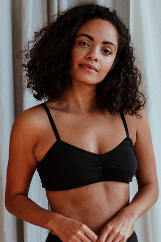 Emily Black Rose Bra
