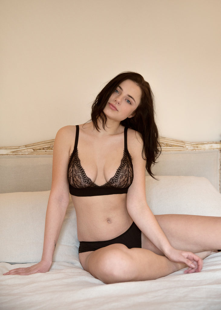 Emily Bra & Brief Set - Luva Huva - ethical lingerie