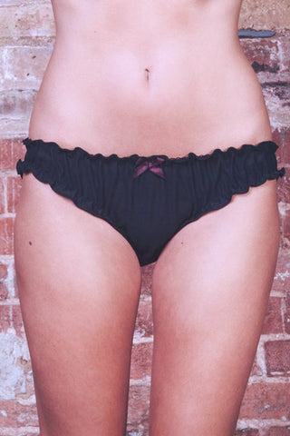 Ruby Satin Frilly Knicker