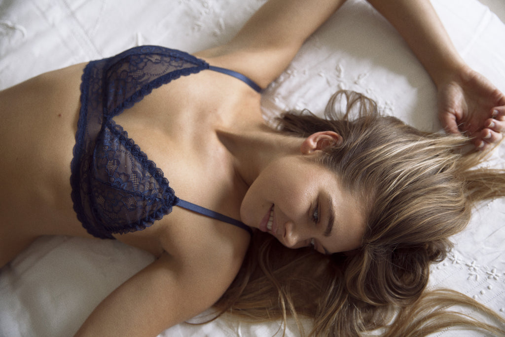 Ida Navy Lace Bra