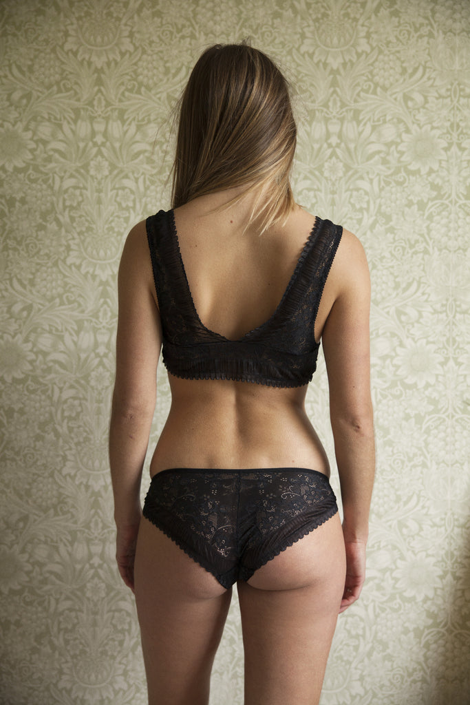 June Black Bra & Brief Set