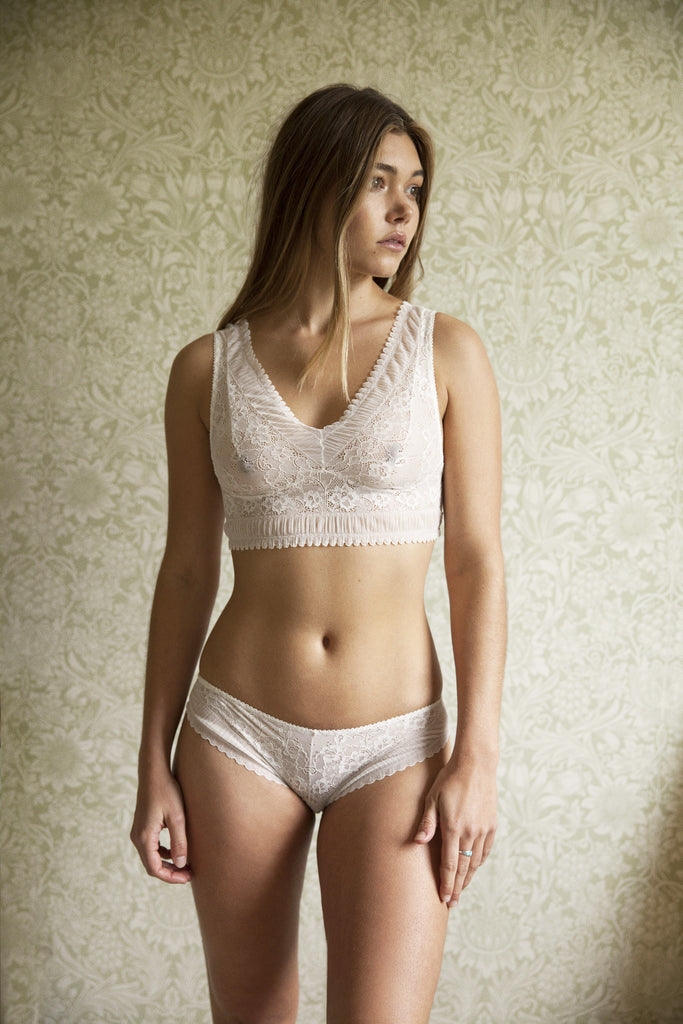 June Ivory Bra & Brief Set