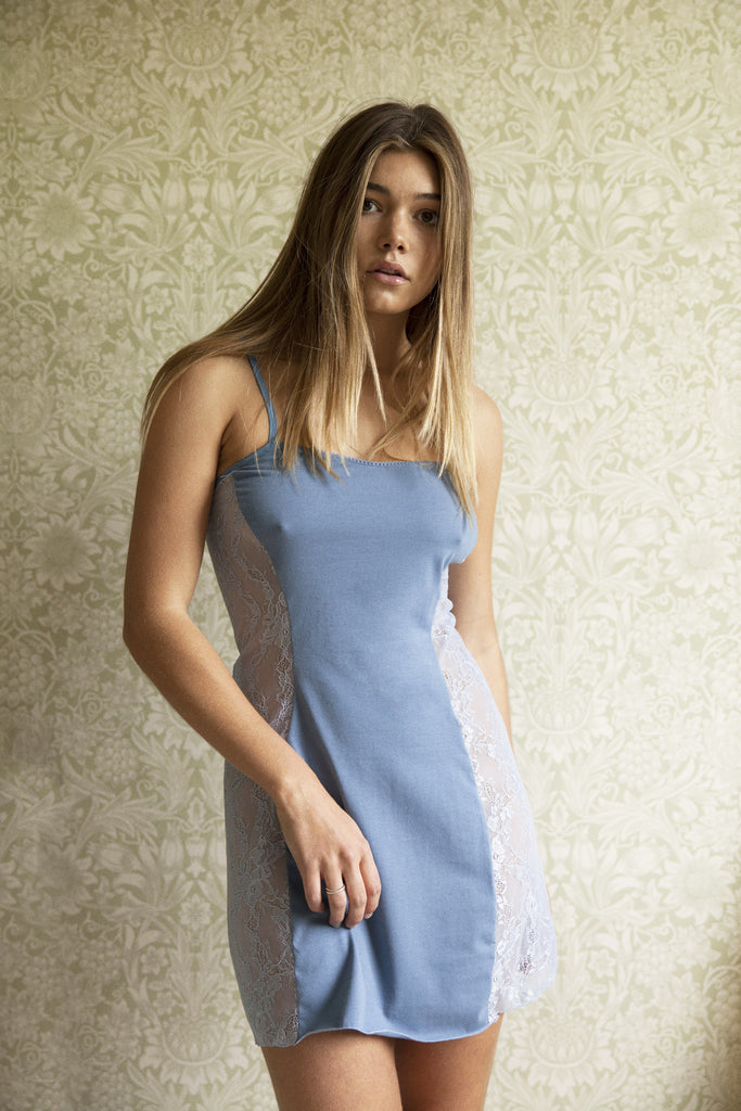 Dusk Blue Organic Cotton Slip