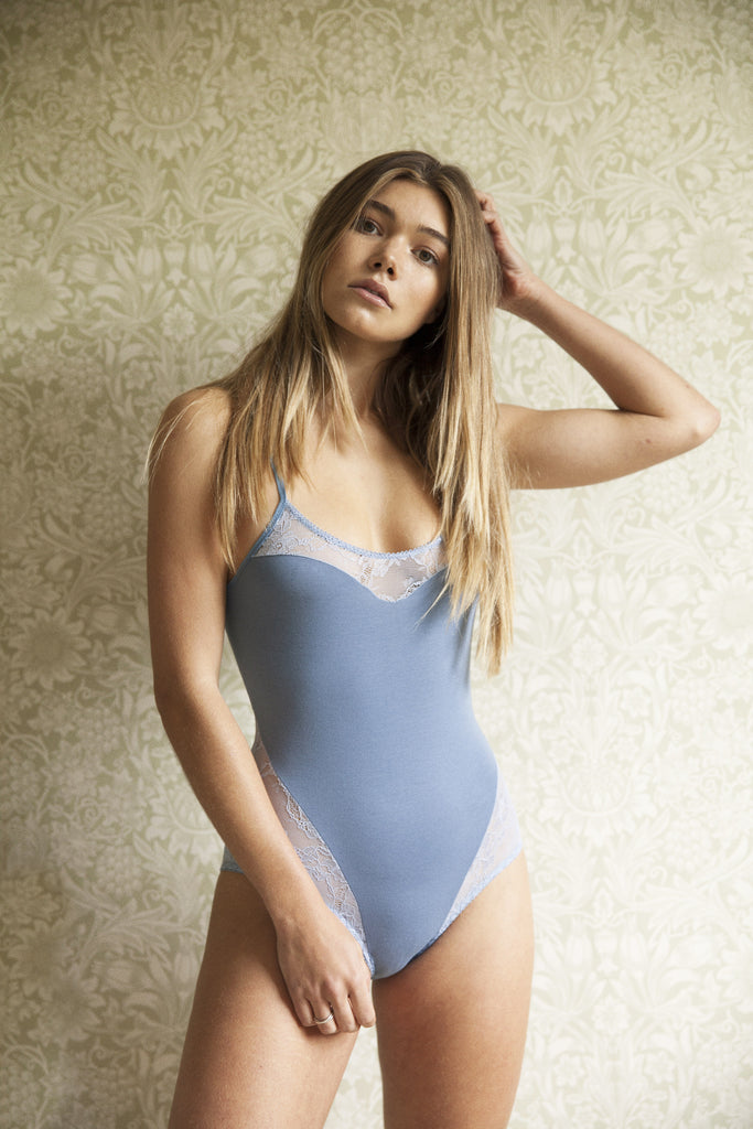 Anna Blue Bodysuit