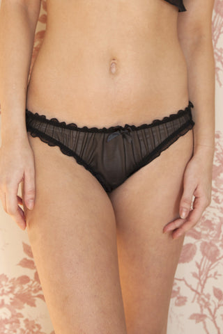 Fiona Black Bamboo & Organic Cotton High-Waist Brief