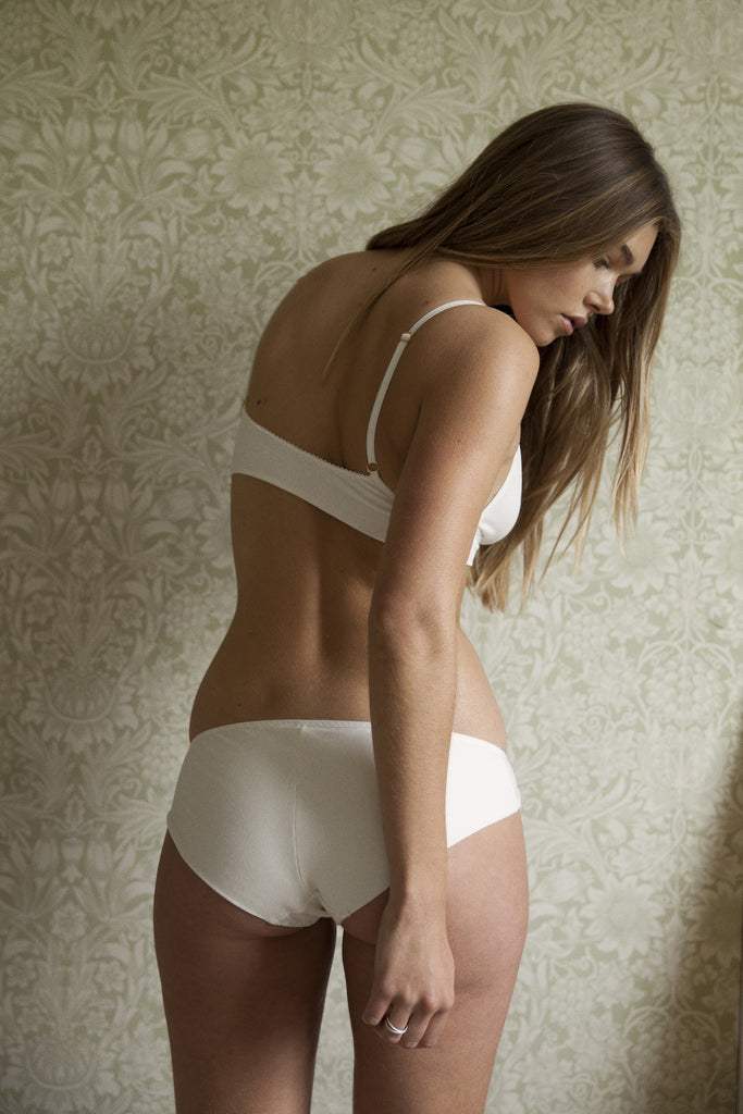 Ninette Cream Organic Brief - Luva Huva - ethical lingerie