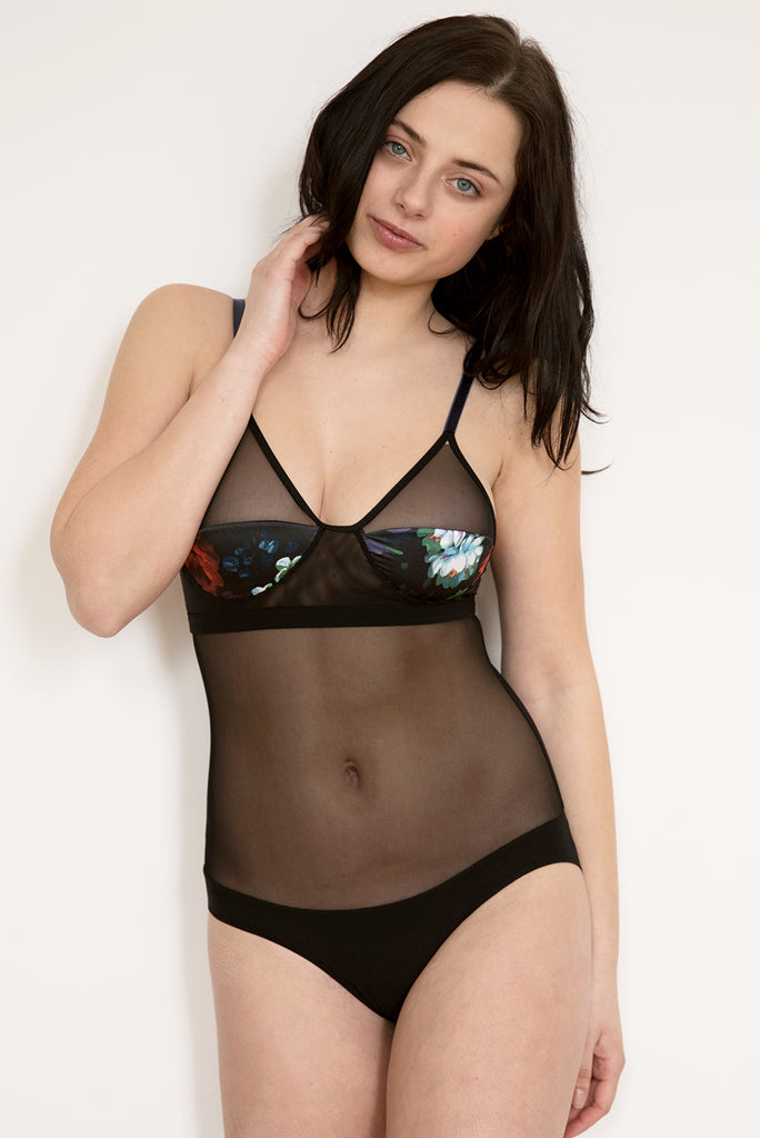 New Moon Bodysuit - Luva Huva - ethical lingerie