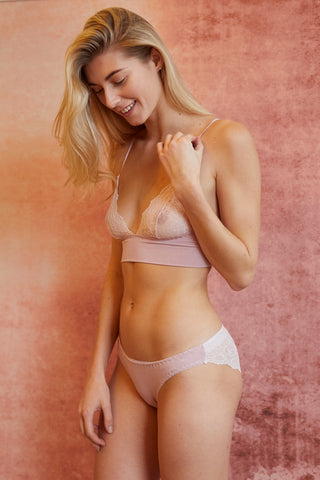 Ninette Cream Organic Bra & Brief Set