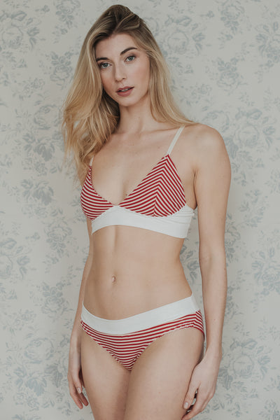 Phoebe Stripe Cotton Bra   Brief Set £62.00 f0d8d759c
