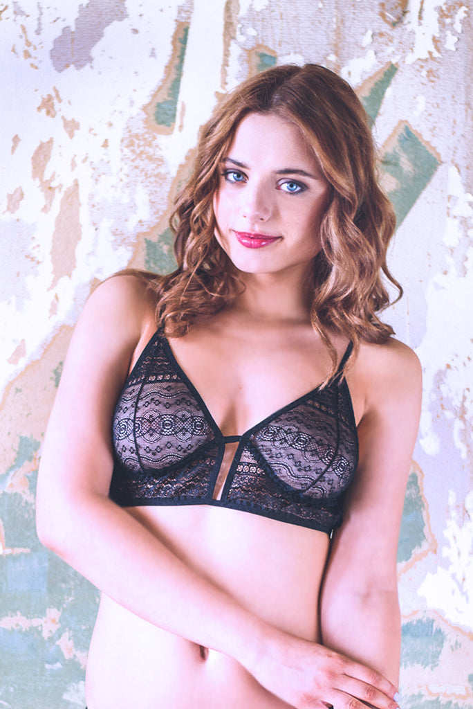 Last size! Black Beauty Lace Bra