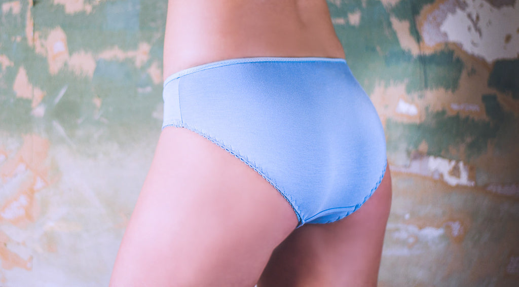 Sky Bamboo & Lace Brief