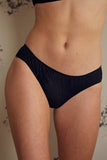 Alice Black Brief - Luva Huva - ethical lingerie