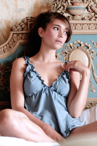 Blue Mist Babydoll & Knicker Set