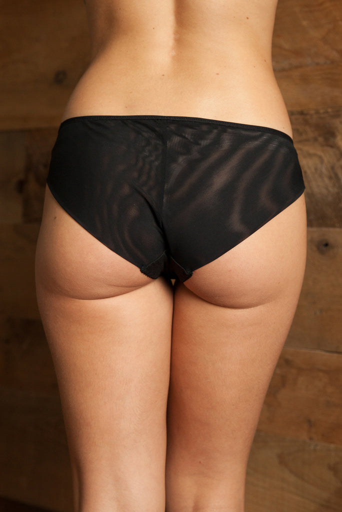 Bonny Black Brief - Luva Huva - ethical lingerie
