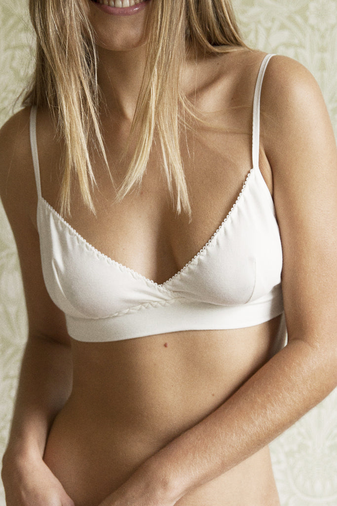 Ninette Cream Organic Bra & Brief Set - Luva Huva - ethical lingerie
