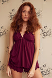 Mulberry bamboo Babydoll & Short Set