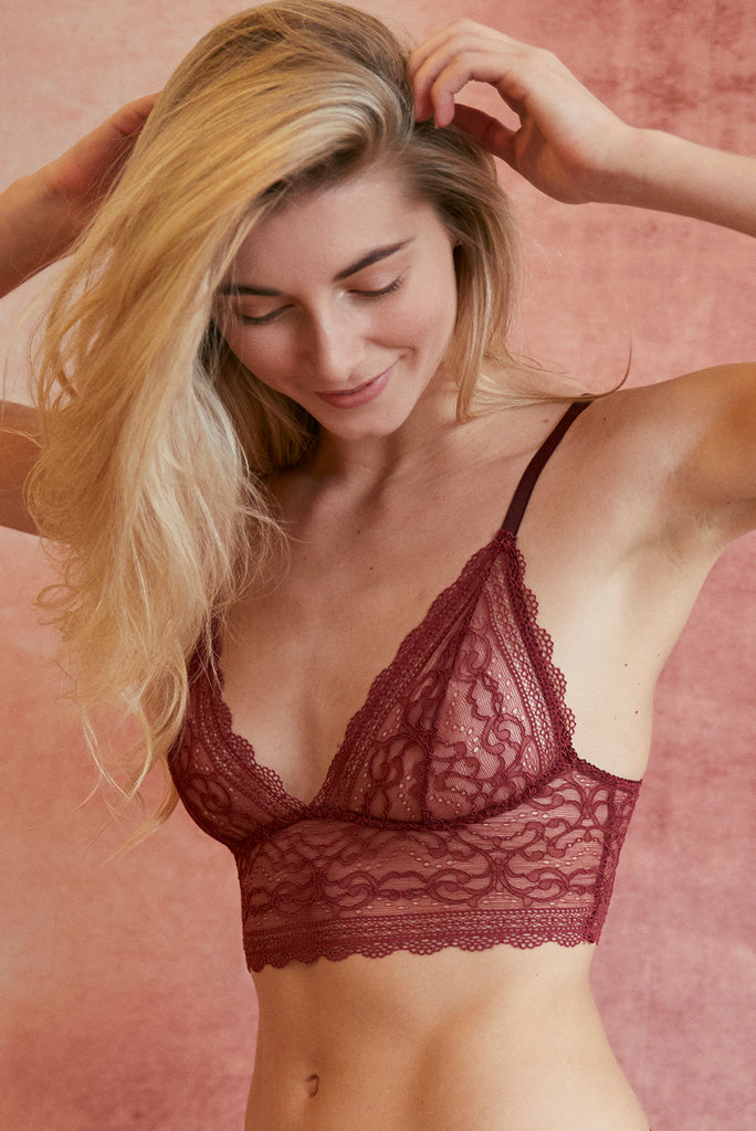 LAST SIZES Sylvia Claret Lace Bra