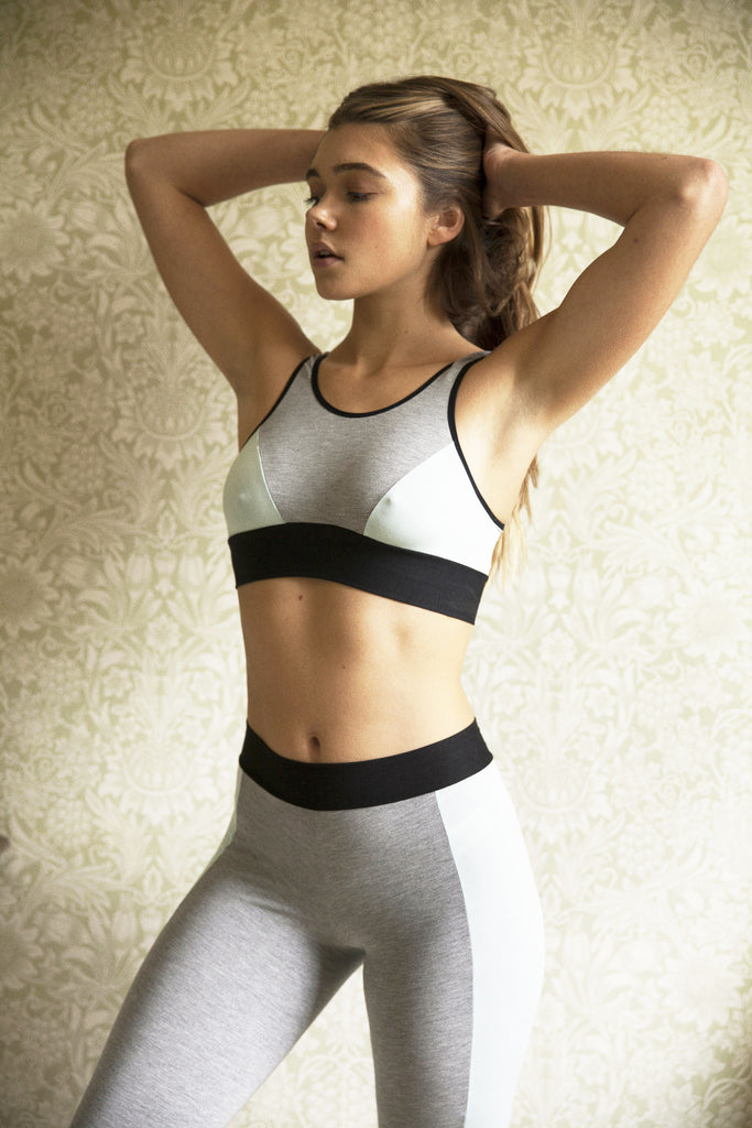 Jessica Mint Crop Top & Legging Set (BACK IN STOCK IN MAY) - Luva Huva - ethical lingerie