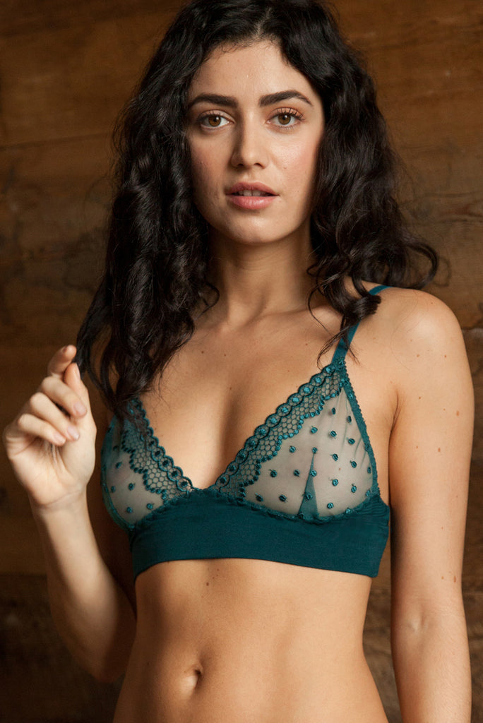 Emily Forest Green Bra   Brief Set - Luva Huva - ethical lingerie ... 3da78033e