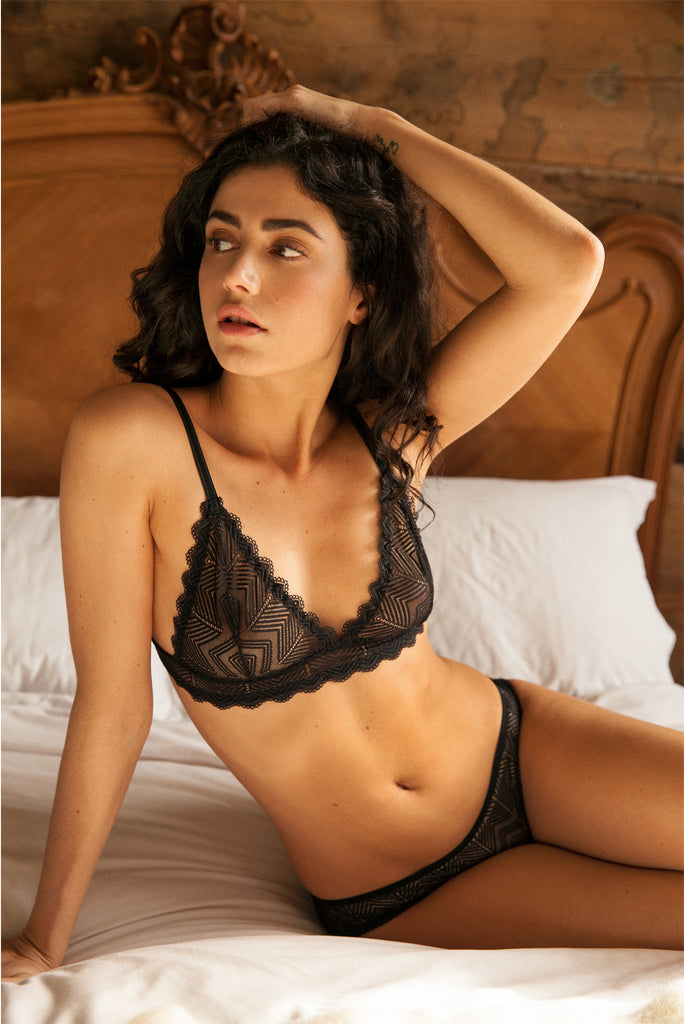 Ida Black Lace Bra