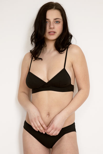 Ninette Black Organic Cotton   Bamboo Bra   Brief Set £59.00 bb67dbea8