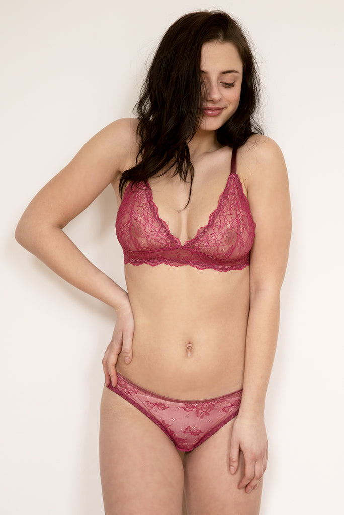 ... Ida Pink Lace Bra   Brief Set - Luva Huva - ethical lingerie ... 80310de92