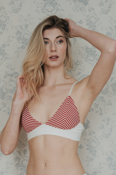 Phoebe Stripe Cotton Bra £49.00 e97eae71e