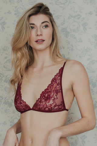 LAST SIZES ! Alice Black Bamboo & Lace Bra