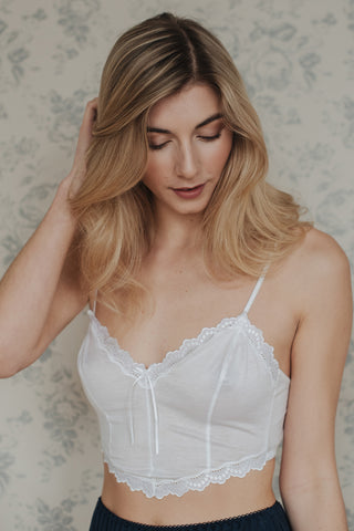 Phoebe Stripe Cotton Bra